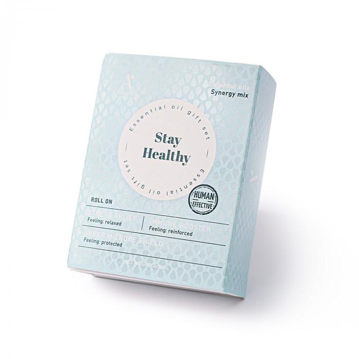 A'SCENTUALS Herbal Therapy tepamų eterinių aliejų rinkinys Stress Relief, Super Microbe Shield, Immune Booster
