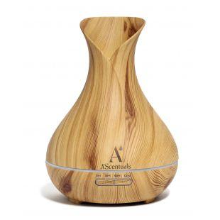 A'SCENTUALS Ultrasonic diffuser 400 ml, light wood imitation